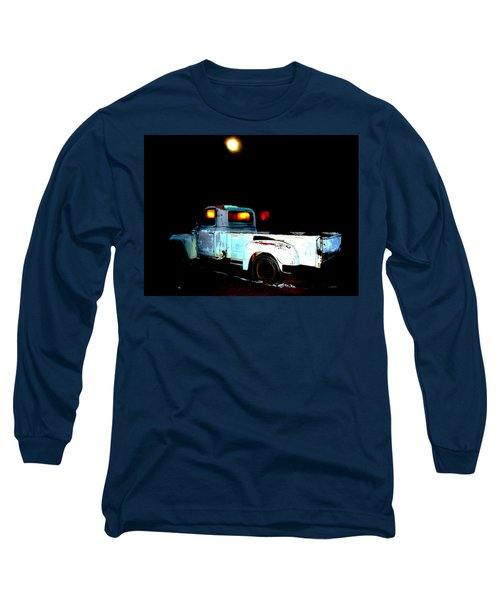 Long Sleeve T-Shirt featuring the digital art Haunted Truck by Cathy Anderson