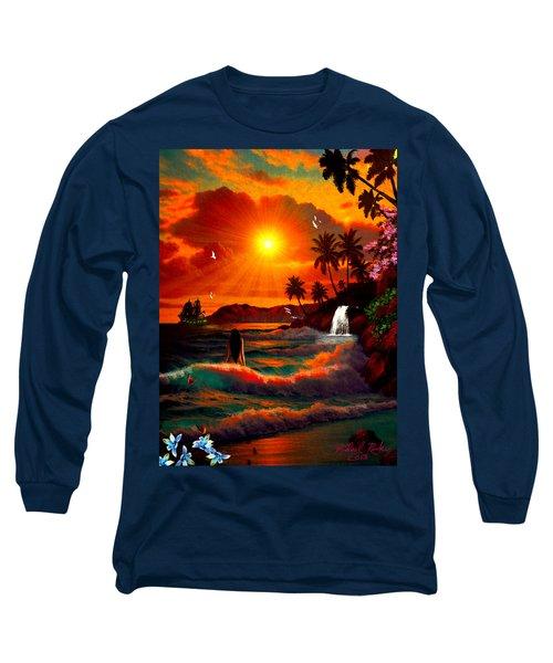 Hawaiian Islands Long Sleeve T-Shirt by Michael Rucker