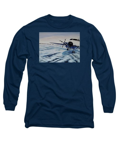 Long Sleeve T-Shirt featuring the painting Hawker - Airplane On Ice by Marilyn  McNish