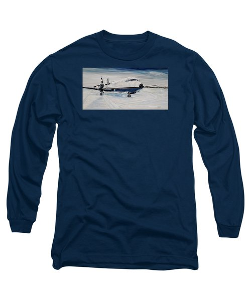 Long Sleeve T-Shirt featuring the painting Hawker - Waiting Out The Storm by Marilyn  McNish