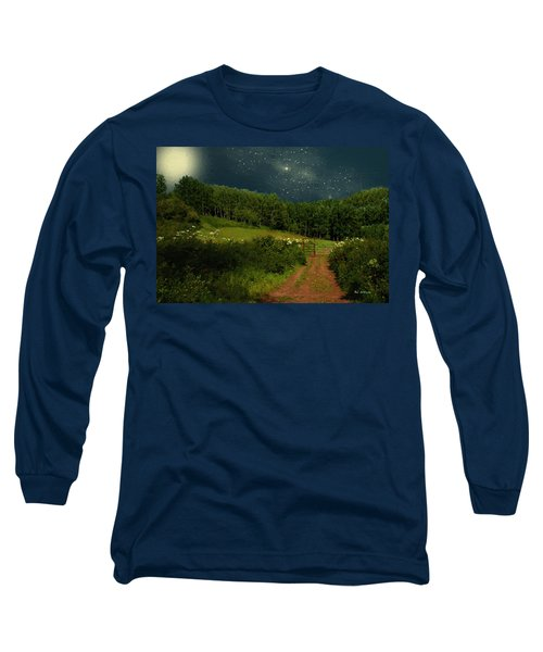 Hazy Moon Meadow Long Sleeve T-Shirt by RC deWinter