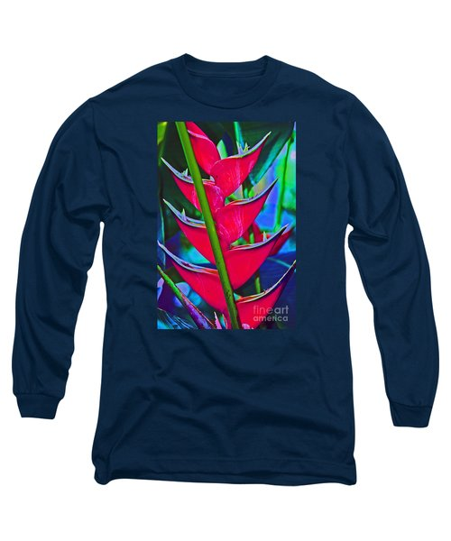 Heliconia Abstract Long Sleeve T-Shirt