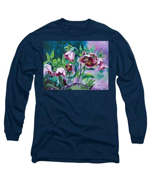 Hellebore Flowers Long Sleeve T-Shirt