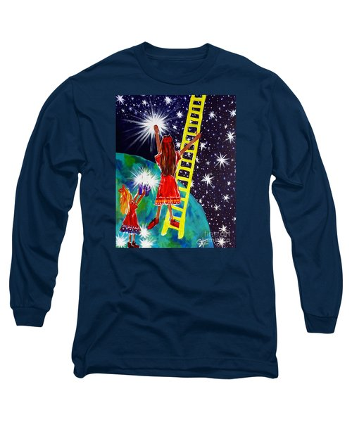 Helping Hands Long Sleeve T-Shirt by Jackie Carpenter