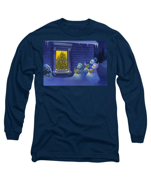 Here We Come A Caroling Long Sleeve T-Shirt by Michael Humphries