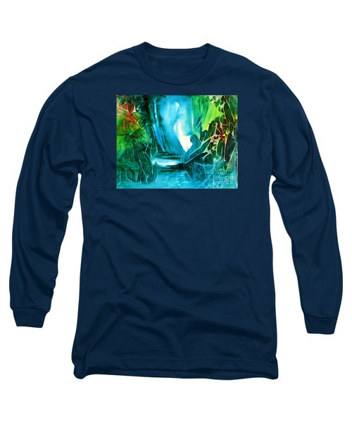 Long Sleeve T-Shirt featuring the painting Hidden In The Stream by Allison Ashton