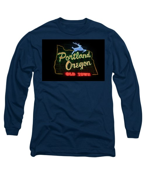 Historic Portland Oregon Old Town Sign Long Sleeve T-Shirt
