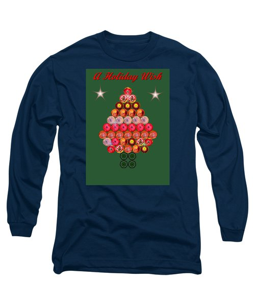 Holiday Tree Of Orbs 2 Long Sleeve T-Shirt by Nick Kloepping