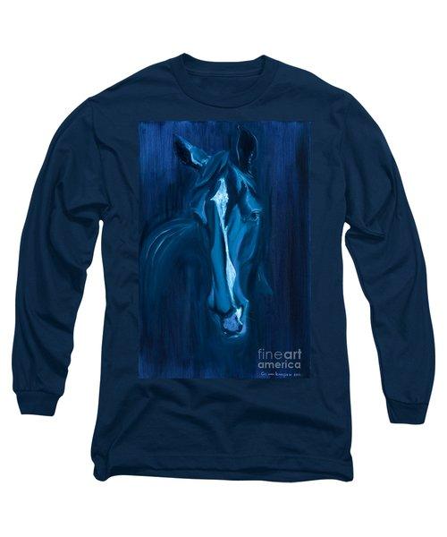horse - Apple indigo Long Sleeve T-Shirt