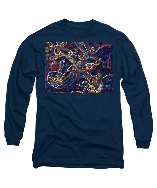 Long Sleeve T-Shirt featuring the digital art Host Of Angels By Jrr by First Star Art