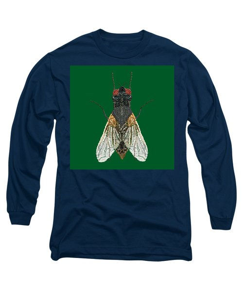 House Fly In Green Long Sleeve T-Shirt