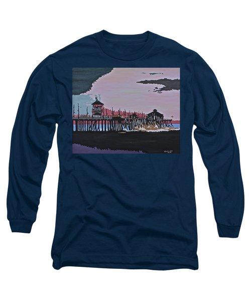 Huntington Beach Pier 1 Long Sleeve T-Shirt