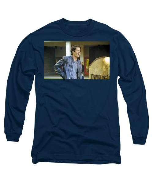 Long Sleeve T-Shirt featuring the painting I Love You Babe by Luis Ludzska