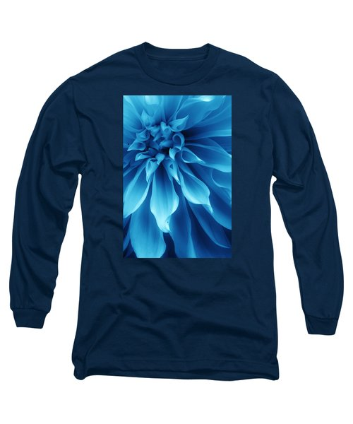 Ice Blue Dahlia Long Sleeve T-Shirt