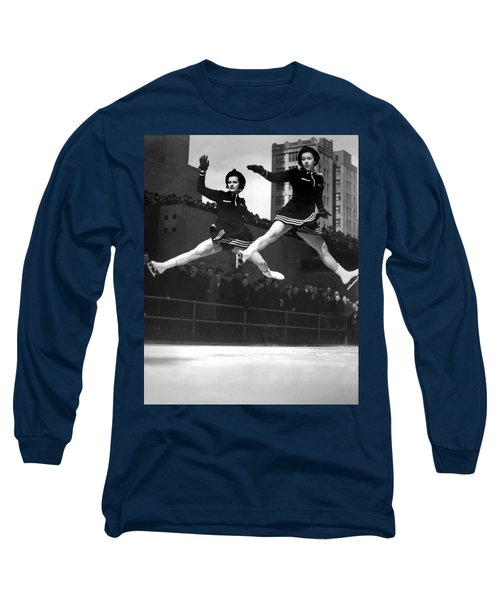 Ice Skaters Perform In Ny Long Sleeve T-Shirt