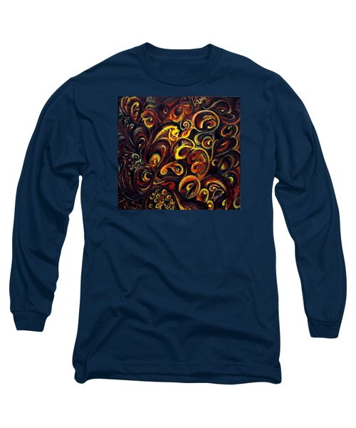 Long Sleeve T-Shirt featuring the painting In Search Of  Ultimate Truth by Harsh Malik