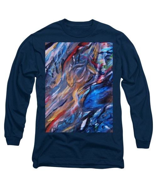 In The Blue Long Sleeve T-Shirt by Dawn Fisher