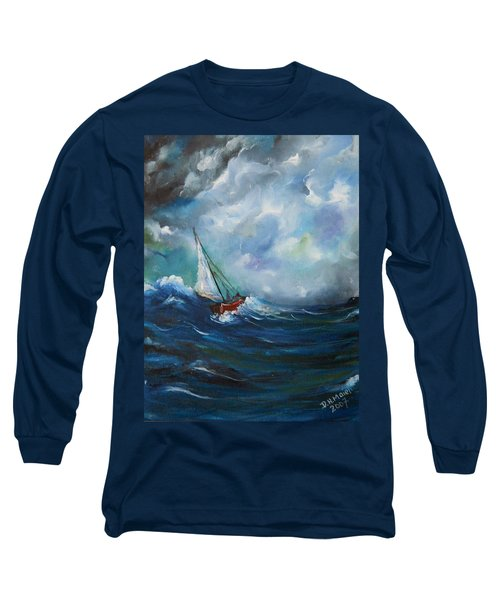Long Sleeve T-Shirt featuring the painting In The Storm by Dorothy Maier