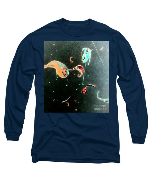 Long Sleeve T-Shirt featuring the painting Inner Space by Jacqueline McReynolds