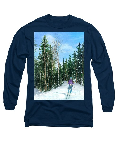 Into The Woods Long Sleeve T-Shirt by Barbara Jewell