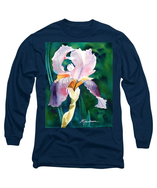 Long Sleeve T-Shirt featuring the painting Iris 1 by Marilyn Jacobson