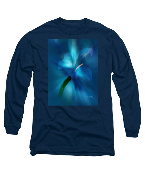 Long Sleeve T-Shirt featuring the digital art Iris Essence by Frank Bright