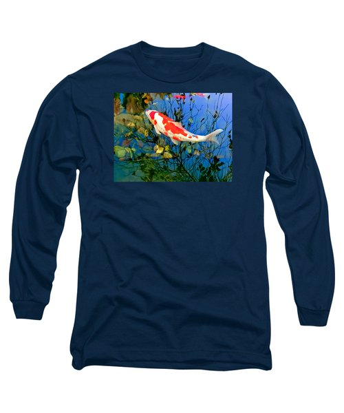 Koi Long Sleeve T-Shirt by Wayne King