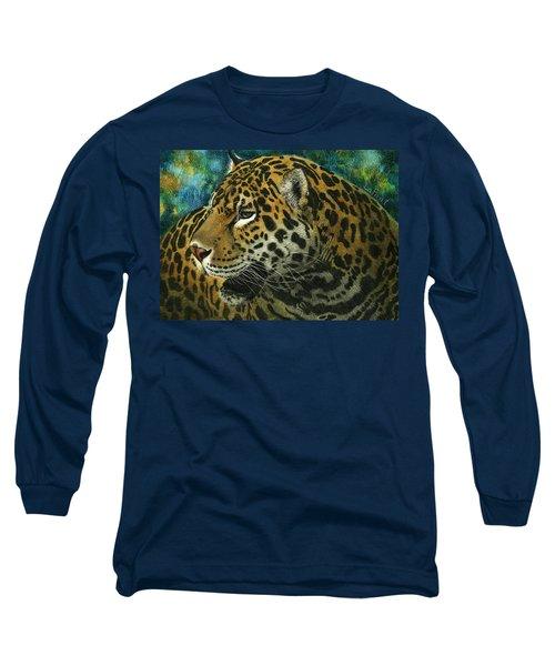 Jaguar Long Sleeve T-Shirt by Sandra LaFaut