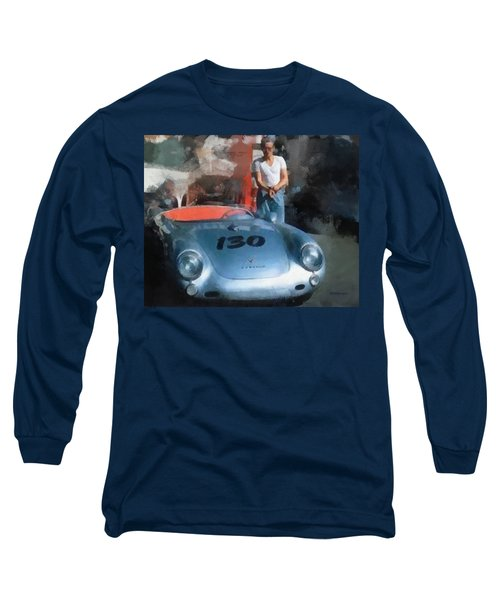 James Dean With His Spyder Long Sleeve T-Shirt