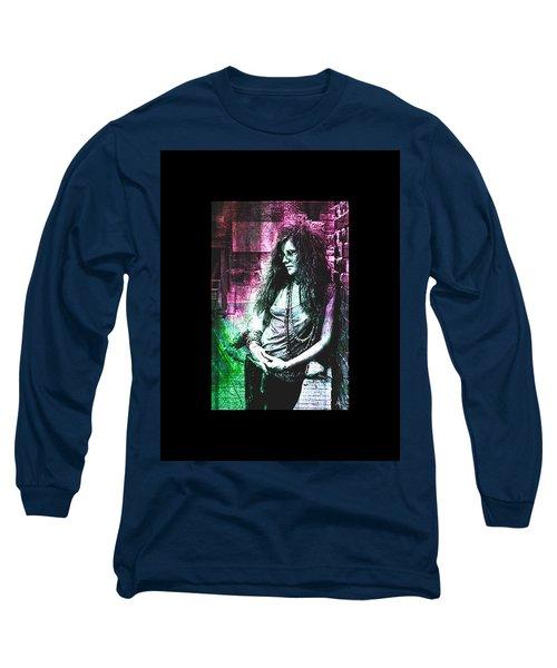 Janis Joplin - Pink Long Sleeve T-Shirt