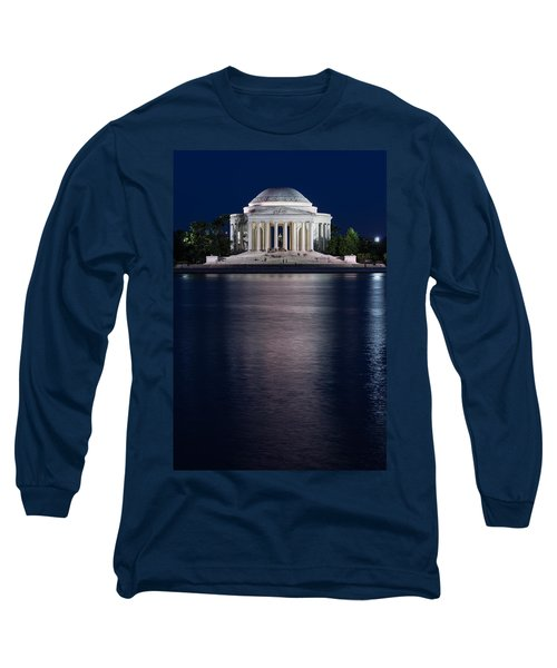 Jefferson Memorial Washington D C Long Sleeve T-Shirt by Steve Gadomski