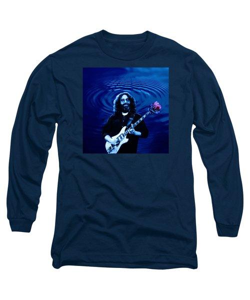 Blue Ripple Rose Long Sleeve T-Shirt