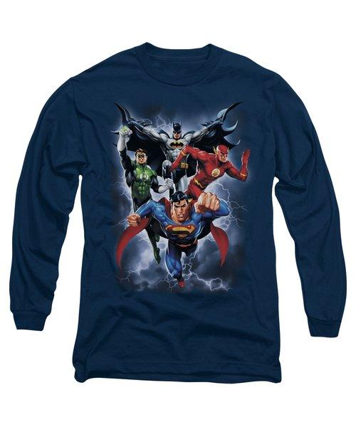 Jla - The Coming Storm Long Sleeve T-Shirt