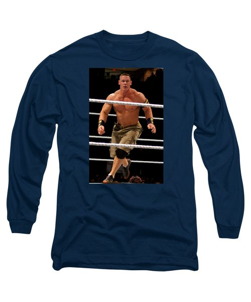 John Cena In Action Long Sleeve T-Shirt by Paul  Wilford