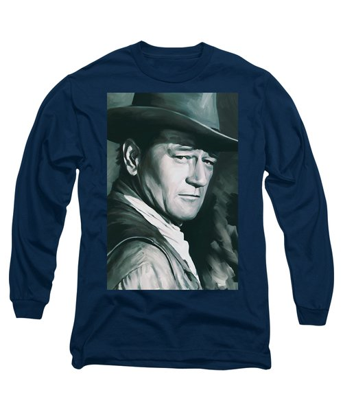 John Wayne Artwork Long Sleeve T-Shirt