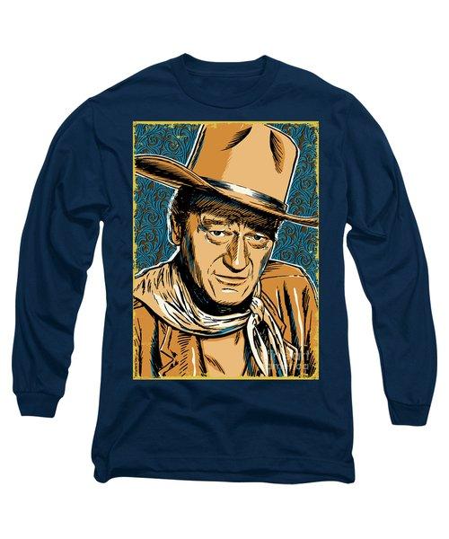 John Wayne Pop Art Long Sleeve T-Shirt