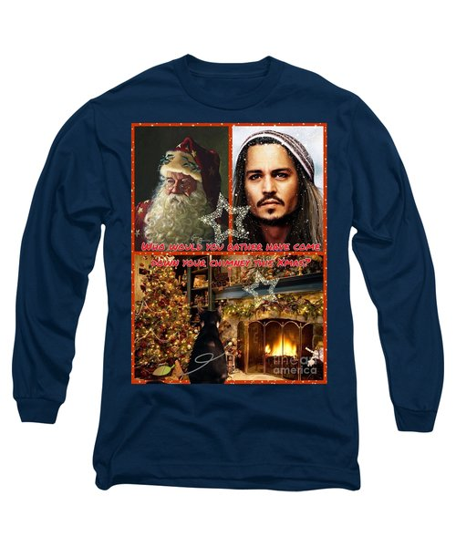 Johnny Depp Xmas Greeting Long Sleeve T-Shirt