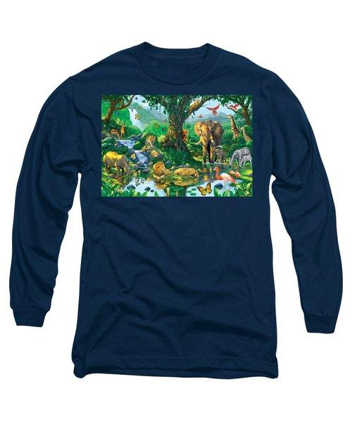 Jungle Harmony Long Sleeve T-Shirt by Chris Heitt