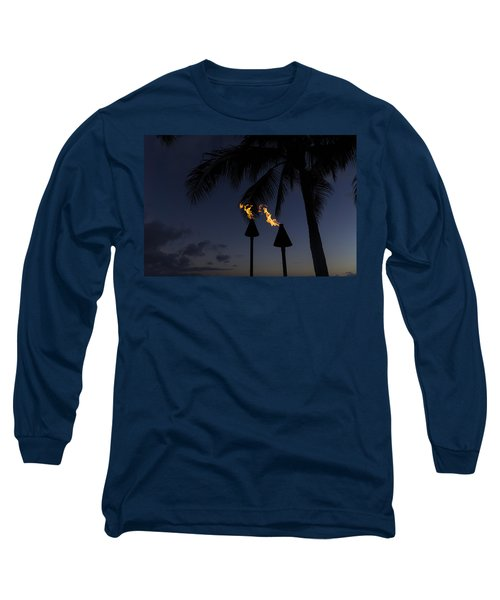 Just After Sunset The Beach Party Is Starting Long Sleeve T-Shirt
