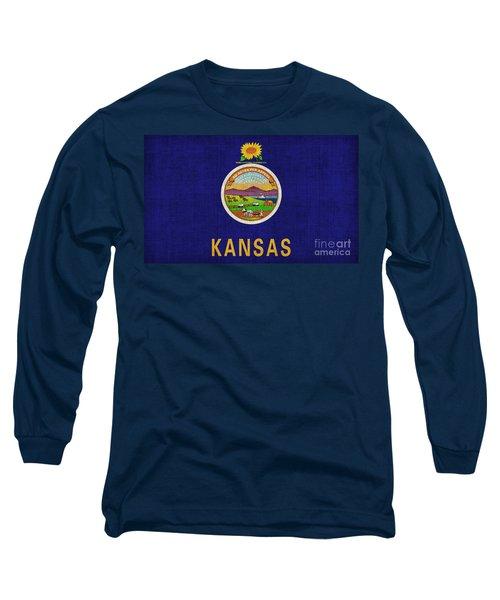 Kansas State Flag Long Sleeve T-Shirt