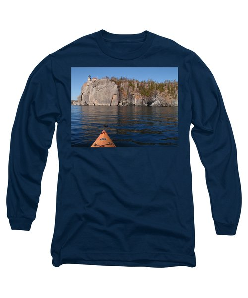 Long Sleeve T-Shirt featuring the photograph Kayaking Beneath The Light by James Peterson