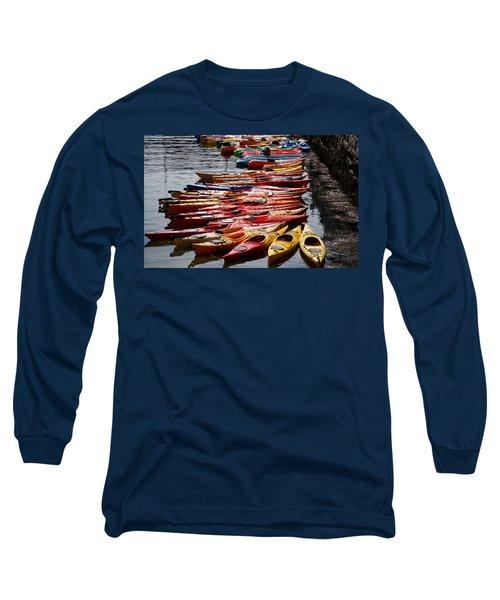 Kayaks At Rockport Long Sleeve T-Shirt