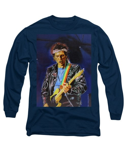 Keith Richards Of Rolling Stones Long Sleeve T-Shirt