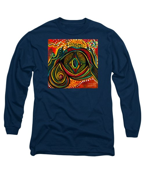 Long Sleeve T-Shirt featuring the painting Kindness Spirit Eye by Deborha Kerr