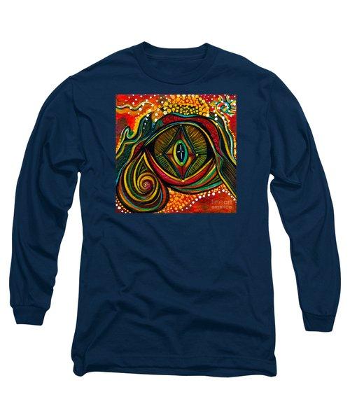 Kindness Spirit Eye Long Sleeve T-Shirt by Deborha Kerr