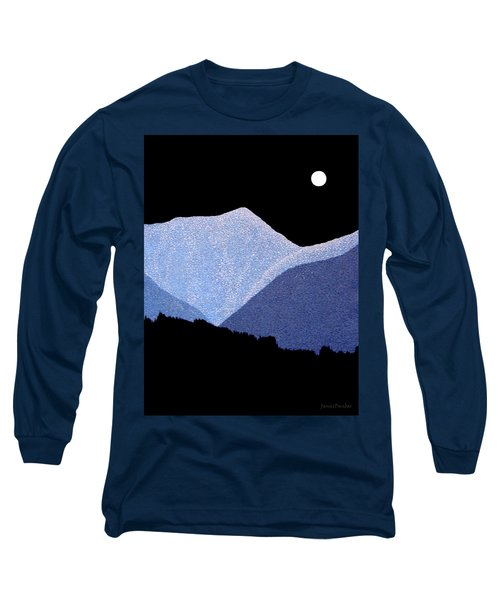 Long Sleeve T-Shirt featuring the painting Kootenay Mountains by Janice Dunbar