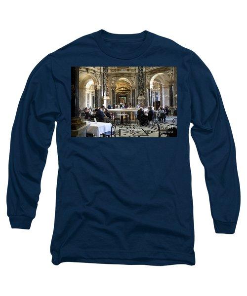 Kunsthistorische Museum Cafe II Long Sleeve T-Shirt by Madeline Ellis