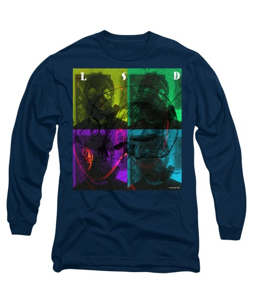 Long Sleeve T-Shirt featuring the photograph L S D  Part One by Sir Josef - Social Critic - ART