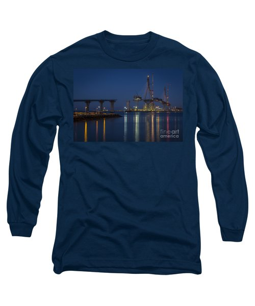 La Pepa Bridge Cadiz Spain Long Sleeve T-Shirt by Pablo Avanzini