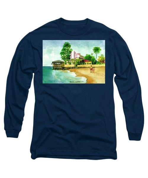 La Playa Hotel Isla Verde Puerto Rico Long Sleeve T-Shirt by Frank Hunter